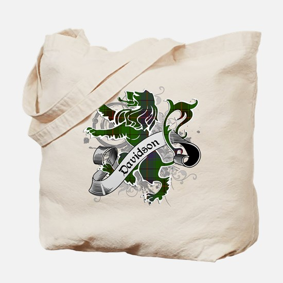 Davidson Tartan Lion Tote Bag