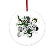 Davidson Tartan Lion Ornament (Round)
