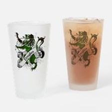 Douglas Tartan Lion Drinking Glass
