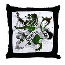 Douglas Tartan Lion Throw Pillow
