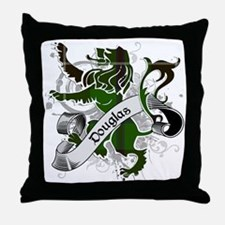 Douglas Tartan Lion Throw Pillow