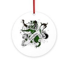 Douglas Tartan Lion Ornament (Round)