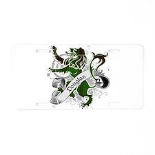 Douglas Tartan Lion Aluminum License Plate