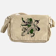 Duncan Tartan Lion Messenger Bag