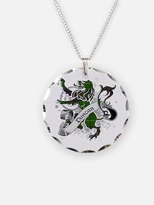 Duncan Tartan Lion Necklace