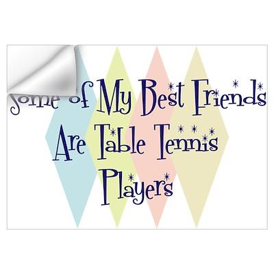 Table tennis players friends wall decal - Friendship tennis de table ...