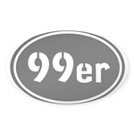 99ers Occupy Wall St Sticker (Oval 50 pk)