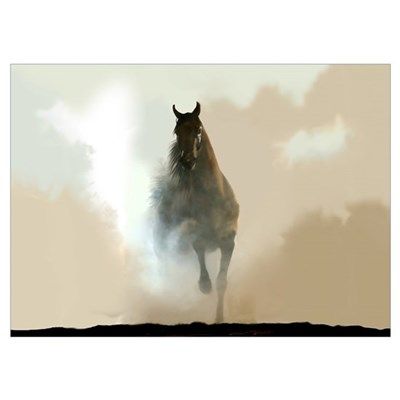 Misty Horse Poster