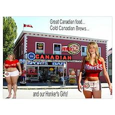 Honker's Canadian Sports Bar Poster