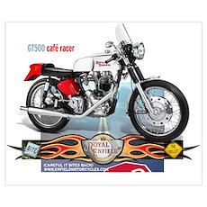Bite the Bullet GT500 Cafe Racer Poster