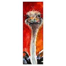 Ostrich Print Poster