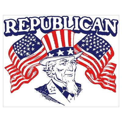 Retro Republican Pride Poster