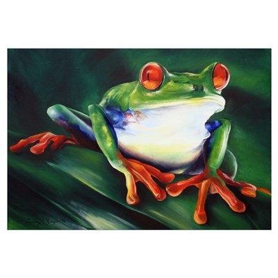 Ribbit Canvas Art