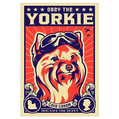 Obey the YORKIE! UK Pilot Framed Print