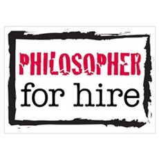 Philosopher for Hire (Red) Poster