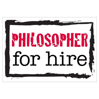 Philosopher for Hire (Red) Framed Print