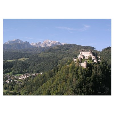 Austria Castle & Mountains Poster
