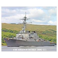 USS ARLEIGH BURKE Poster