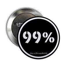 "99% Occupy Wall St NYC Protes 2.25"" Button"