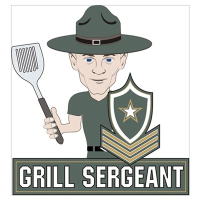 Grill Sergeant Framed Print