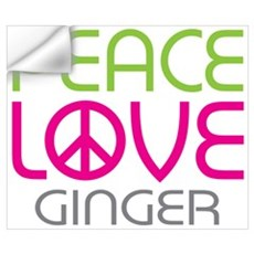 Peace Love Ginger Wall Decal