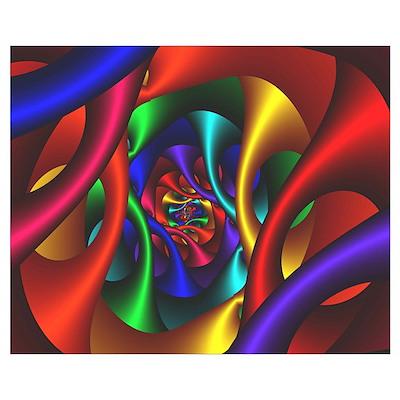 """""""Color 2"""" Fractal Art Poster"""