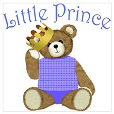 Little Prince Teddy Bear Poster