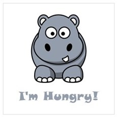 I'm Hungry Hippo Canvas Art