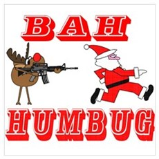 Bah Humbug Canvas Art