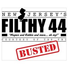 NJ's Filthy 44 FBI Bust Poster