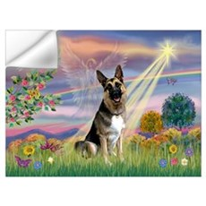 Cloud Angel & German Shepherd Wall Decal