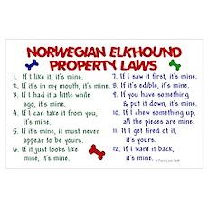 Norwegian Elkhound Property Laws 2 Poster