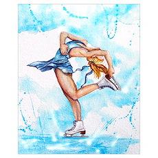 Blue Dream Ice Skater Poster