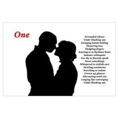 """""""One"""" Poetic Print Poster"""