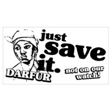 Just Save Darfur Poster
