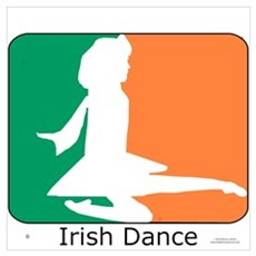 Irish Dance Tricolor Girl Poster