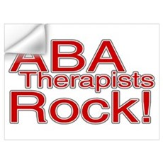 ABA Therapists Rock! Wall Decal