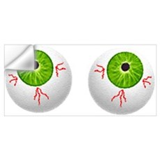 Halloween Eyeballs Wall Decal