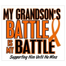 My Battle Too (Grandson) Orange Poster