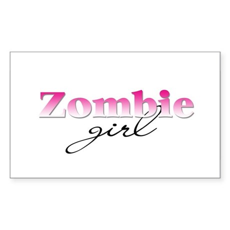 Zombie girl Rectangle Sticker