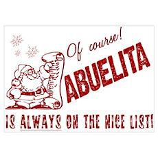 Nice List Abuelita Poster