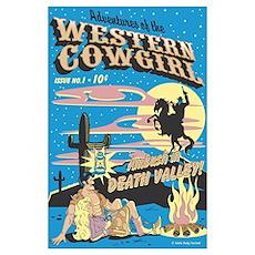 Pop Art Cowboy Cowgirl & Wild Horse Poster