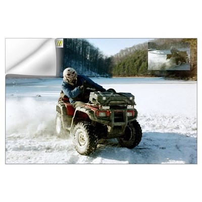 Snow Daze - Honda Rubicon - Skull Helmet Wall Decal