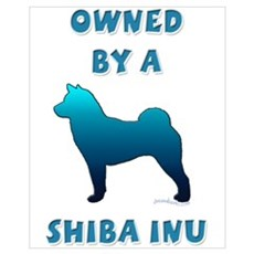 Owned by a Shiba Framed Print