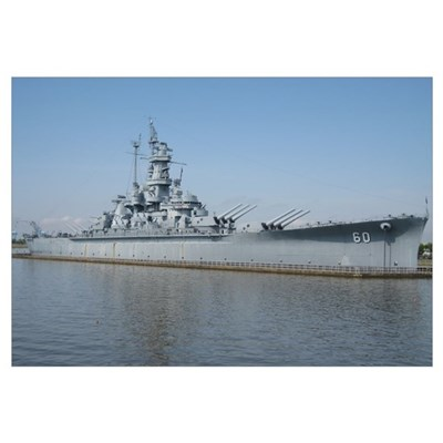 USS Alabama Framed Print