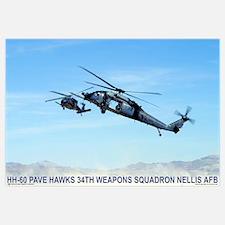 "35"" x 23"" HH-60 Pave Hawks 34th"
