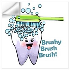 Brushy Brush Brush Wall Decal