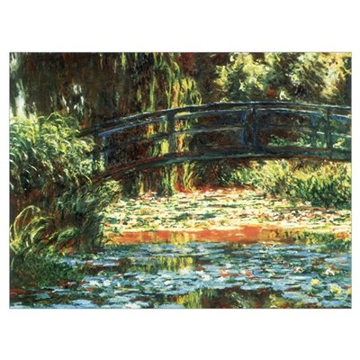 Monet Bridge Over Pond Poster