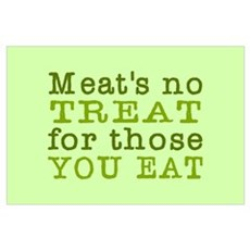 Meat's No Treat Animal Rights Poster