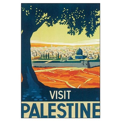 Vintage Palestine Travel Post Canvas Art
